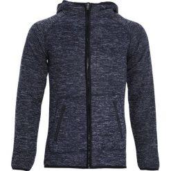 Granatowa Bluza Embrasure. Czarne bluzy męskie rozpinane marki Born2be, m, z nadrukiem, z dresówki, z kapturem. Za 59,99 zł.