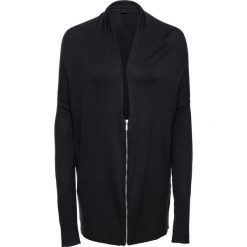 Sweter rozpinany z zamkiem oversize bonprix czarny. Czarne swetry rozpinane damskie bonprix. Za 79,99 zł.