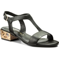 Rzymianki damskie: Sandały BRUNO PREMI – Nappa + Tacco R0401X Nero/Oro/Topazio