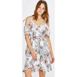 Morgan - Sukienka. Szare sukienki mini marki Morgan, na co dzień, w paski, z elastanu, casualowe, rozkloszowane. W wyprzedaży za 299,90 zł.