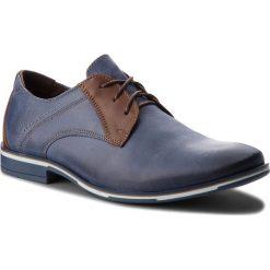 Półbuty LASOCKI FOR MEN - 9317  Granatowy. Niebieskie buty wizytowe męskie Lasocki For Men, z materiału. Za 199,99 zł.