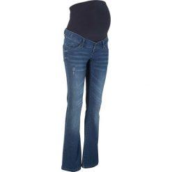 """Dżinsy ciążowe BOOTCUT bonprix niebieski """"stone"""". Niebieskie jeansy damskie bootcut marki bonprix. Za 139,99 zł."""