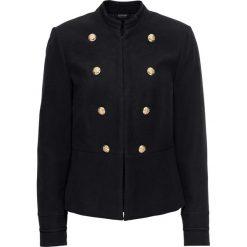 Bomberki damskie: Krótka kurtka ze złotymi guzikami bonprix czarny