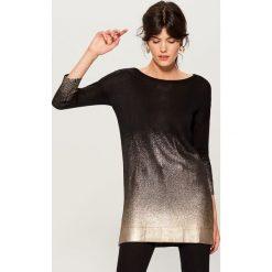 Długi sweter z efektem ombre - Czarny. Czarne swetry klasyczne damskie marki Mohito, m. Za 129,99 zł.