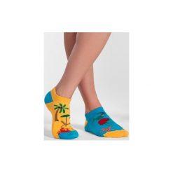 Skarpetki damskie: Stopki Plaża i Morze – kolorowe skarpetki Spox Sox