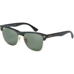 Ray-Ban - Okulary Clubmaster Oversized. Szare okulary przeciwsłoneczne męskie aviatory Ray-Ban, z materiału. W wyprzedaży za 399,90 zł.