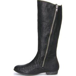 """Buty zimowe damskie: Skórzane kozaki """"Ebbs"""" w kolorze czarnym"""