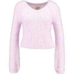 Swetry klasyczne damskie: Hollister Co. BELL SLEEVE EYELASH Sweter purple