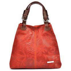 Torebki klasyczne damskie: Skórzane torebka w kolorze czerwonym – (S)30 x (W)37 x (G)16 cm