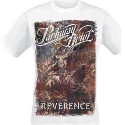 Parkway Drive Reverence - Cover - White T-Shirt biały. Białe t-shirty męskie z nadrukiem Parkway Drive, xxl, z okrągłym kołnierzem. Za 74,90 zł.
