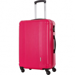 Walizka w kolorze fuksji - 99 l. Czerwone walizki Platinium, z materiału. W wyprzedaży za 269,95 zł.