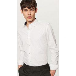 Koszula z podwijanymi rękawami slim fit - Jasny szar. Szare koszule męskie slim marki House, l, z bawełny. W wyprzedaży za 59,99 zł.