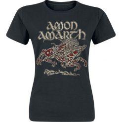 Amon Amarth Horse Koszulka damska czarny. Czarne bluzki z odkrytymi ramionami Amon Amarth, m, z nadrukiem, z okrągłym kołnierzem. Za 74,90 zł.