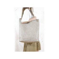 Mega Shopper bag beżowa torba oversize Vegan. Brązowe shopper bag damskie Hairoo, w paski. Za 185,00 zł.