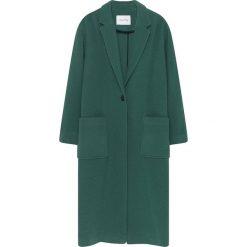 Płaszcze damskie: Płaszcz w kolorze ciemnozielonym