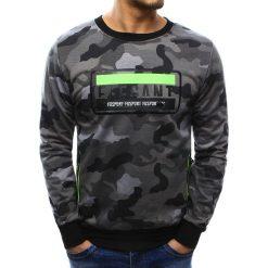 Bluzy męskie: Bluza męska z nadrukiem camo szare (bx3445)