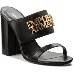 Chodaki damskie: Klapki EMPORIO ARMANI - X3P634 XF193 00002 Nero
