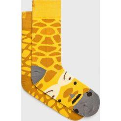 Nanushki - Skarpetki Gigi Giraffe. Białe skarpetki damskie marki MEDICINE, z bawełny. Za 24,90 zł.