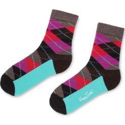 Skarpety Wysokie Damskie HAPPY SOCKS - ARY01-8000 Kolorowy. Brązowe skarpetki damskie Happy Socks, w kolorowe wzory, z bawełny. Za 34,90 zł.