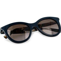 Okulary przeciwsłoneczne BOSS - 0310/S Blue Brown S9W. Niebieskie okulary przeciwsłoneczne damskie lenonki marki Boss. Za 589,00 zł.