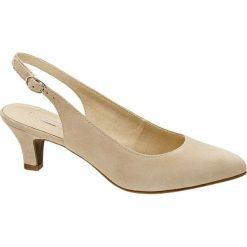 Buty ślubne damskie: czółenka damskie 5th Avenue beżowe