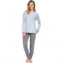 Piżama w kolorze jasnoniebiesko-szarym - koszulka, spodnie. Niebieskie piżamy damskie Doctor Nap, s. W wyprzedaży za 72,95 zł.