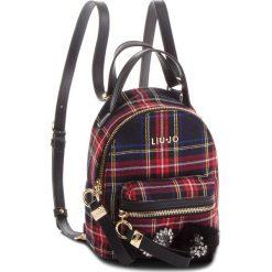 Plecak LIU JO - S Backpack Brentac N68066 T7811 Tartan Nero/Red V9644. Czarne plecaki damskie Liu Jo, z materiału, klasyczne. Za 469,00 zł.