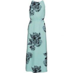 Sukienki: Długa sukienka bonprix morski pastelowy z nadrukiem