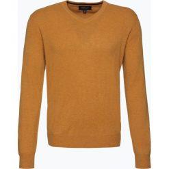 Swetry klasyczne męskie: Andrew James – Sweter męski z czystego kaszmiru, żółty