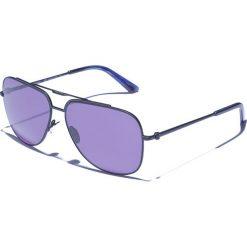 Okulary przeciwsłoneczne męskie aviatory: Okulary męskie w kolorze czarno-niebieskim