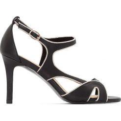 Rzymianki damskie: Sandały skórzane z asymetrycznymi paskami