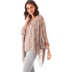 Bluzki asymetryczne: Koszulka w kolorze jasnobrązowym