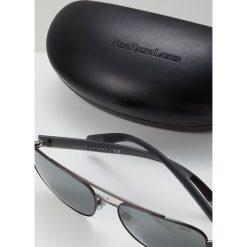 Polo Ralph Lauren Okulary przeciwsłoneczne semishiny dark gunmetal/silvercoloured mirror. Szare okulary przeciwsłoneczne męskie wayfarery Polo Ralph Lauren. Za 529,00 zł.