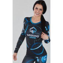 """Ground Game Sportswear Koszulka damska Rashguard """"Circles"""" długi rękaw  Niebiesko-grafitowa r. M. Bluzki damskie Ground Game Sportswear, m. Za 149,00 zł."""