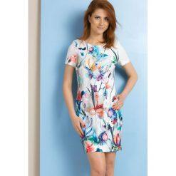 Sukienki: Sukienka w wielobarwne kwiaty