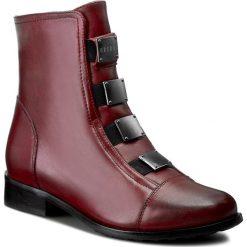 Botki EKSBUT - 64-3520-B32-1G Bordo Polar. Czerwone buty zimowe damskie Eksbut, z polaru, na obcasie. W wyprzedaży za 239,00 zł.