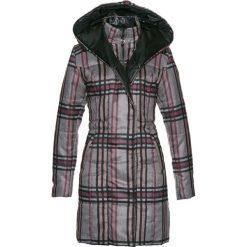 Płaszcz pikowany bonprix antracytowy melanż w kratę. Szare płaszcze damskie bonprix, melanż. Za 189,99 zł.