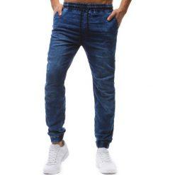 Joggery męskie: Joggery męskie denim look niebieskie (ux1235)