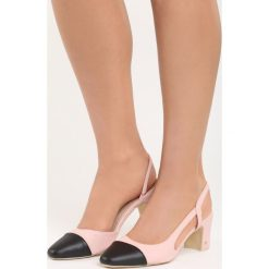 Różowe Sandały Selaut. Czerwone sandały damskie na słupku marki Born2be, z materiału, na wysokim obcasie. Za 49,99 zł.