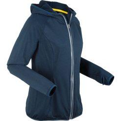 Kurtki damskie: Kurtka termoaktywna do biegania, długi rękaw bonprix ciemnoniebieski melanż