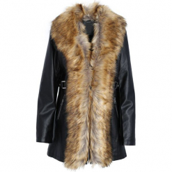 Czarno-Beżowy Płaszcz Enchanting. Brązowe płaszcze damskie zimowe Born2be, xl. Za 199,99 zł.