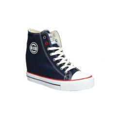 Buty ślubne damskie: Buty Big Star  Trampki sznurowane na koturnie  U27490