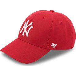 Czapka z daszkiem 47 BRAND - New York Yankees 47 B-MVP17WBV-RD Czerwony. Czerwone czapki z daszkiem damskie 47 Brand, z materiału. Za 89,00 zł.