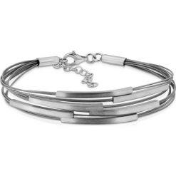 Bransoletki damskie na nogę: Srebrna Bransoletka - srebro 925