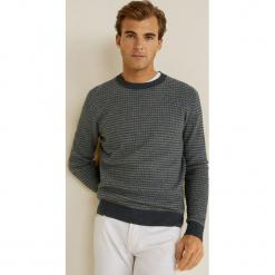 Mango Man - Sweter Dotty. Niebieskie swetry klasyczne męskie marki Reserved, l, z okrągłym kołnierzem. Za 199,90 zł.