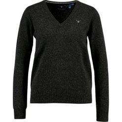 GANT SUPERFINE V NECK Sweter charcoal melange. Szare swetry klasyczne damskie GANT, xl, z materiału. Za 419,00 zł.