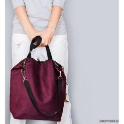 Torba Simple burgund. Czerwone torebki klasyczne damskie Pakamera, w paski. Za 149,00 zł.