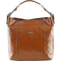 Torebki klasyczne damskie: Skórzana torebka w kolorze jasnobrązowym – (S)42 x (W)34 x (G)13 cm