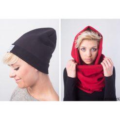 Czapki zimowe damskie: komplet ciepły komin z kapturem i czapka