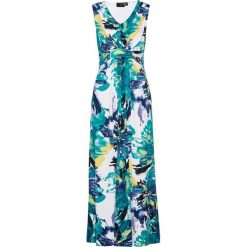 Sukienki: Letnia sukienka bonprix szmaragdowo-niebieski z nadrukiem